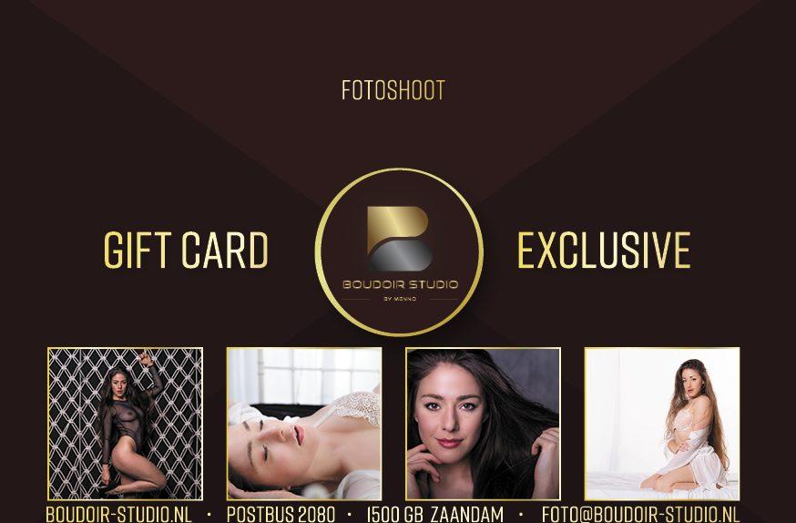 Boudoir Fotoshoot giftcard, giftcard, feestdagen, boudoir, fotograaf, fotoshoot cadeau, fotoshoot kado
